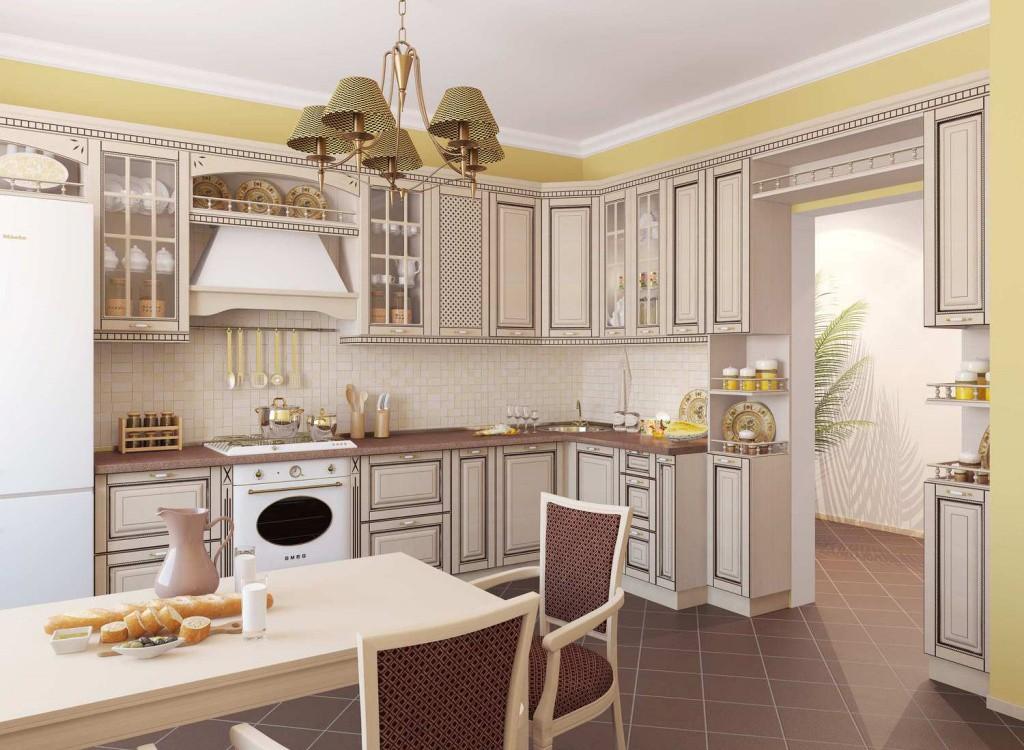 Дизайн кухонь из беленого дуба